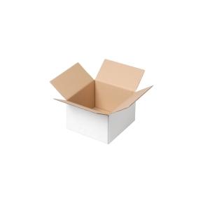 Krabica z trojvrstvového kartónu 155x155x100, klopová (0201) BIELA