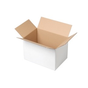 Krabica z trojvrstvového kartónu 200x150x100, klopová (0201) BIELA
