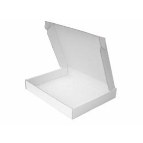 Krabica z trojvrstvového kartónu 240x205x35 zásielková, bielo-biela