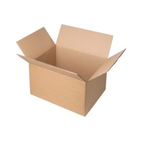 Krabica z trojvrstvového kartónu 300x200x100, klopová (0201) kraft