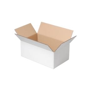 Krabica z trojvrstvového kartónu 400x300x100, klopová (0201) BIELA