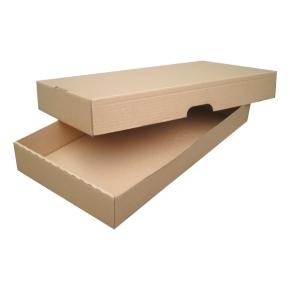 Krabica z trojvrstvového kartónu 500x262x68 skladacia s vekom