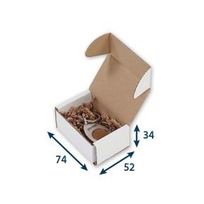 Krabica z trojvrstvového kartónu 74x52x34, minikrabička, FEFCO 0471
