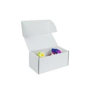 Krabička na 2 muffiny/cupcakes,185x95x90 mm, biela s vložkou