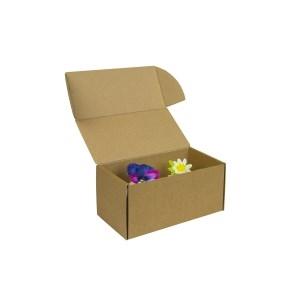 Krabička na 2 muffiny/cupcakes,185x95x90 mm, hnedá - kraft s vložkou