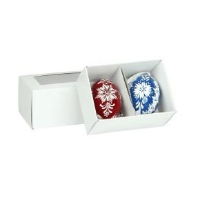 Krabička na 2 veľkonočné kraslice 105x74x65 mm