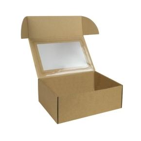Krabička na 6 muffinov/cupcakes 250x180x95 mm, s vložkou, hnedá - kraft