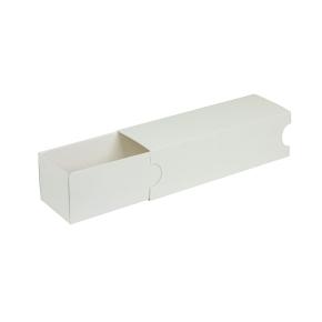 Krabička na makrónky biela s návlekom 180x50x50mm