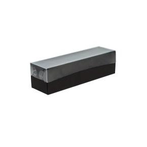 Krabička na makrónky čierna s návlekom 180x50x50mm