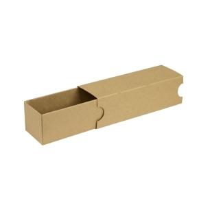 Krabička na makrónky hnedá s návlekom 180x50x50mm