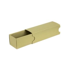 Krabička na makrónky zlatá s návlekom 180x50x50mm