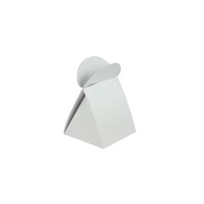 Krabička na pralinku 45x45x45/22 biela perleť
