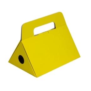 Odnoska na fľašu vína 250x174x186 mm, žltá