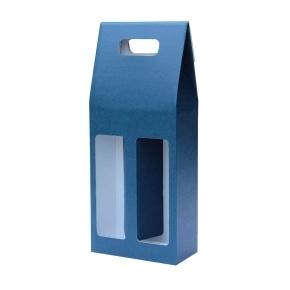 Odnoska na víno 160x80x320 mm, mikrovlna modro biela 2x0,75l