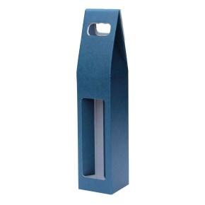 Odnoska na víno 80x80x320 mm, mikrovlna modro biela 1x0,75l