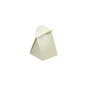 Ozdobná krabička na pralinku 45x45x45/22 mm, krémová perleť