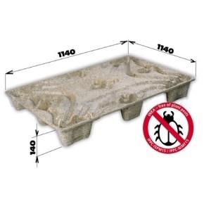 Paleta lisovaná INKA F11 - 1140x1140x140 (container) - nosnosť 800kg