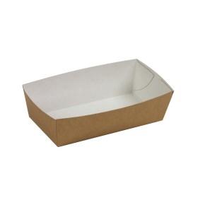 Papierová miska na hranolky 152x82x43 mm, hnedá