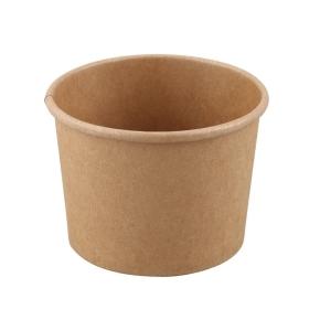 Papierová miska na polévku 480 ml, priemer 111 mm, hnedý - kraft