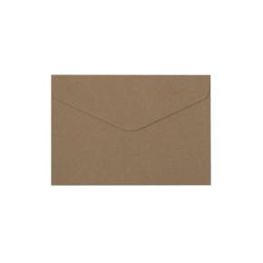 Papierová obálka 162x114 mm, formát C6, hnedá - kraft