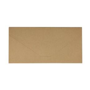 Papierová obálka s vreckom 220x110 mm, formát DL, hnedá - kraft