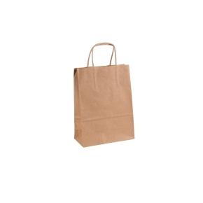 Papierová taška 140x80x210 mm, hnedá univerzálna
