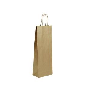 Papierová taška 140x80x390 mm na fľašu