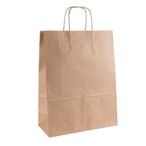 Papierová taška s krúteným uchom 320x140x420 mm, kraft