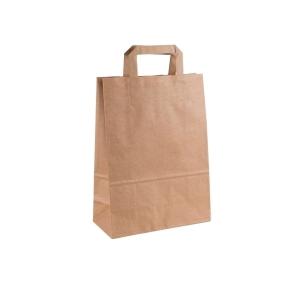 Papierová taška s plochým uchom 220x110x295 mm, kraft