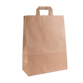 Papierová taška s plochým uchom 320x140x4420 mm, kraft