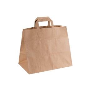 Papierová taška s plochým uchom MENU BOX 320x200x280 mm, kraft