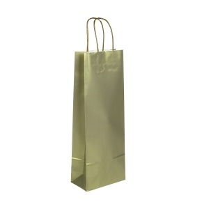 Papierová taška zlatá 150x80x400 mm, na fľašu