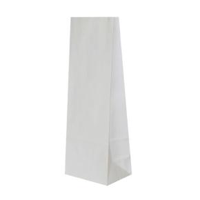 Papierové vrecko s obdĺžnikovým dnom 100x70x260 mm, biela