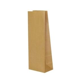Papierové vrecko s obdĺžnikovým dnom 100x70x260 mm, hnedá