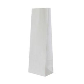 Papierové vrecko s obdĺžnikovým dnom 120x90x325 mm, biela