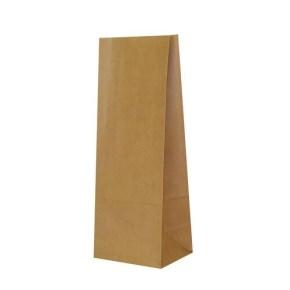 Papierové vrecko s obdĺžnikovým dnom 120x90x325 mm, hnedá
