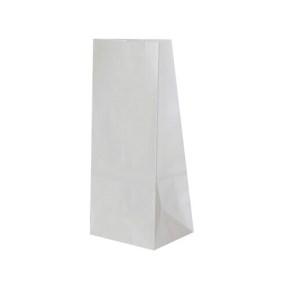 Papierové vrecko s obdĺžnikovým dnom 90x70x190 mm, biela