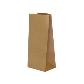 Papierové vrecko s obdĺžnikovým dnom 90x70x190 mm, hnedá
