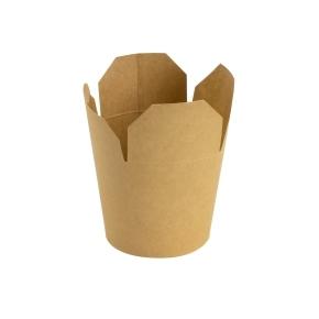 Papierový FOOD BOX 750 ml, hnedý - kraft