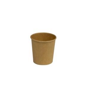Papierový kelímok COFFEE TO GO 110 ml, priemer 62 mm, hnedý - kraft