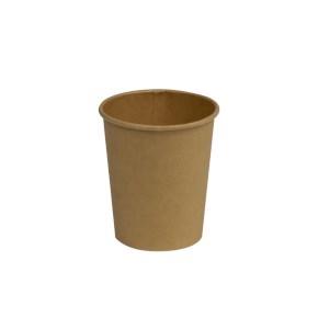 Papierový kelímok COFFEE TO GO 280 ml, priemer 80 mm, hnedý - kraft