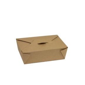 Papierový MENU BOX 195x140x65 mm, 1800 ml, hnedý - kraft