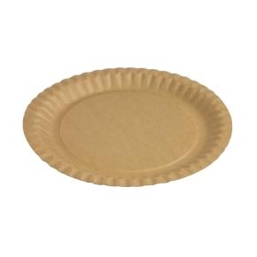 Papierový tanier okrúhly 230 mm, hnedý - kraft