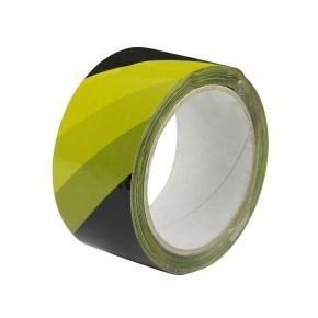 Páska samolepiaca PP 50x66 tlač PRUHY žltá + čierna