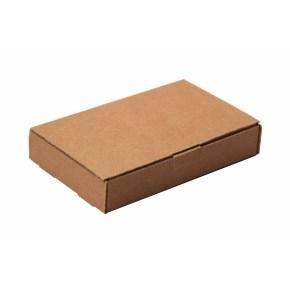 Poštová krabica 255x160x25 mm, do schránok, hnedá