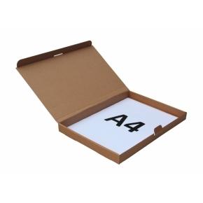 Poštová krabica 305x220x25 mm, do schránok, hnedá