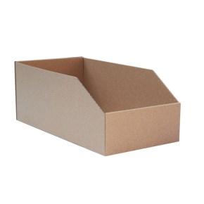 Regálový zásobník 105x200x120mm, hnedý kartónový