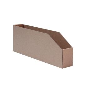 Regálový zásobník 146x400x130mm na CD, hnedý kartonový