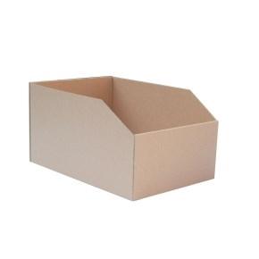 Regálový zásobník 195x278x150mm, hnedý kartónový