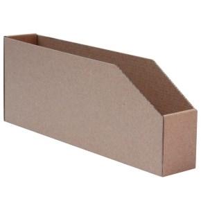 Regálový zásobník 45x278x107mm, hnedý kartónový